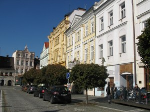 "Böhmisch Leipa Marktplatz, der ""Bummel"""